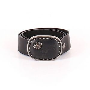 NWT Juicy Couture Black Genuine Cow Leather Belt S